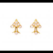 Golden Dart Earrings