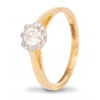 Flattering Diamond Ring