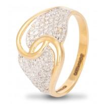 Glittering Join Diamond Ring