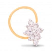 Peachy Diamond Nose Pin
