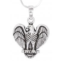 Virtuous Eagle Silver Pendant