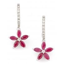 Rosy Curlicue Earrings