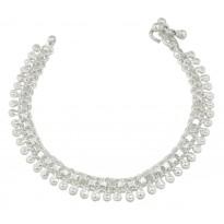 Womens Silver Payal